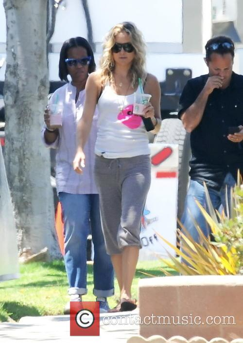 Kate Hudson spotted on the set of 'Wish...