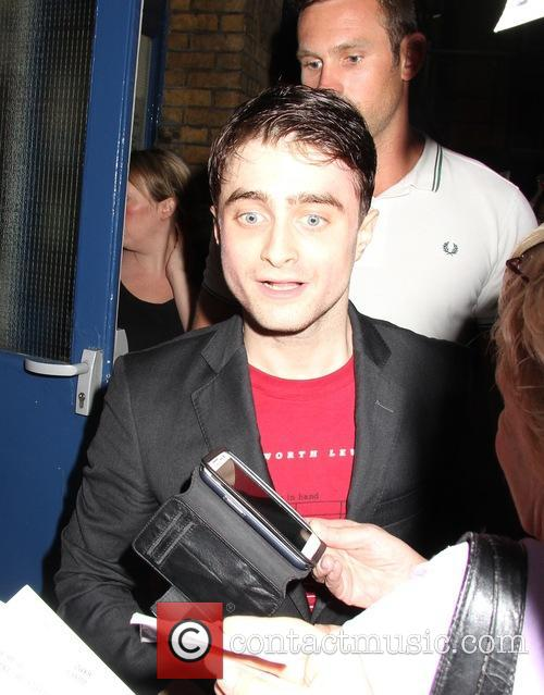 daniel radcliffe daniel radcliffe is greeted by 3820581