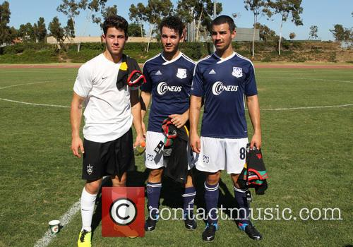 Jonas Brothers host charity soccer match before LA...