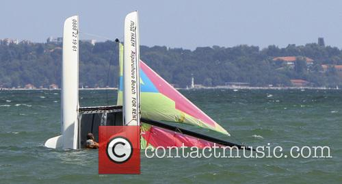 Wind Sinks Catamaran