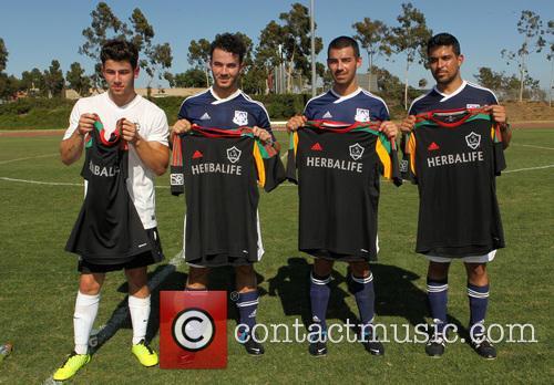 Nick Jonas, Kevin Jonas, Joe Jonas and Wilmer Valderrama