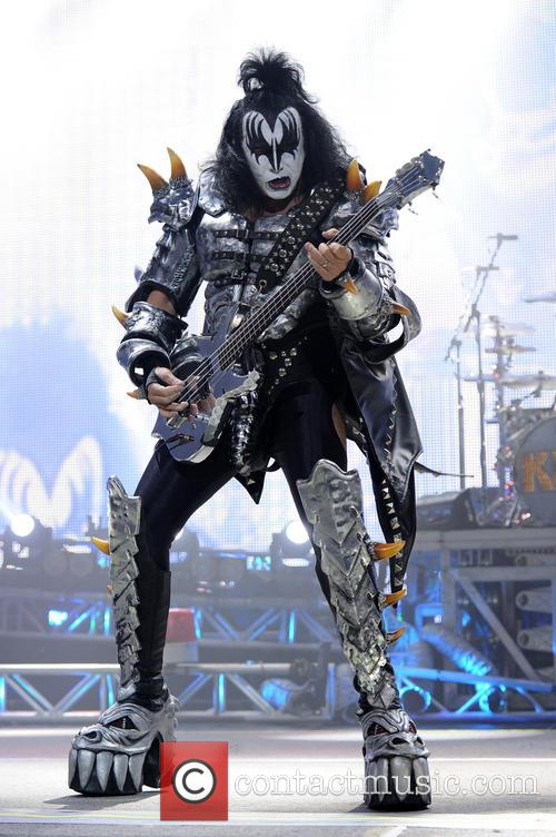 KISS performing live in concert
