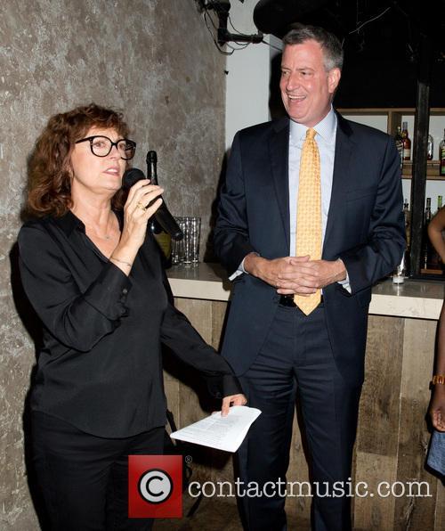 Susan Sarandon and Bill De Blasio 1