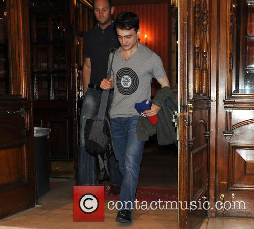 Daniel Radcliffe leaves the Noel Coward Theatre