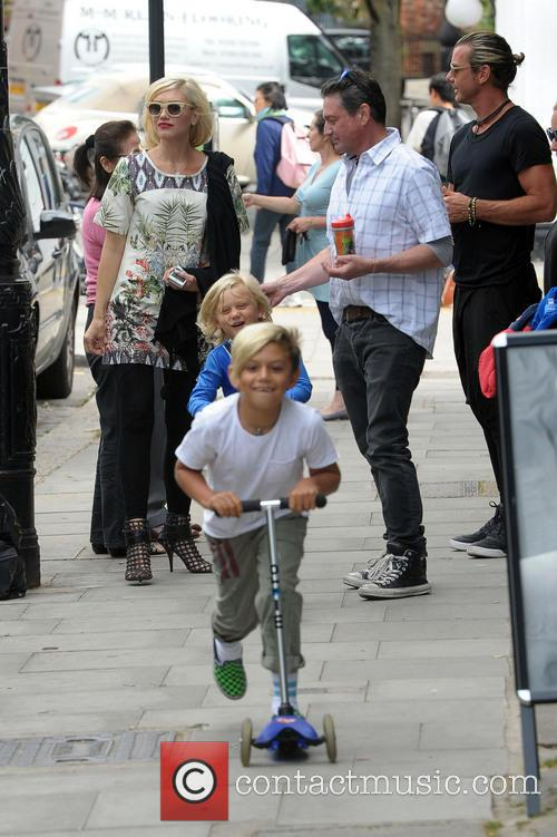 Gwen Stefani, Gavin Rossdale, Kingston Rossdale and Zuma Rossdale 7