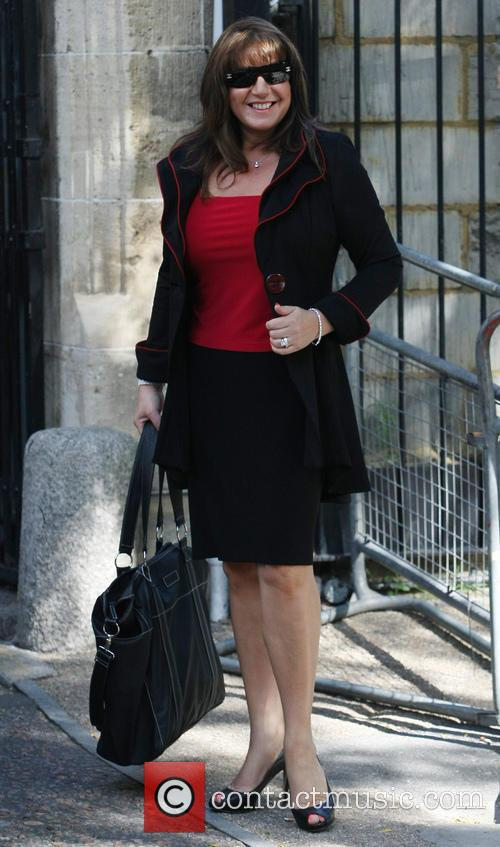 Jane Mcdonald arriving at the ITV Studios