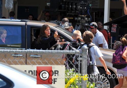 Jennifer Garner filming On Location