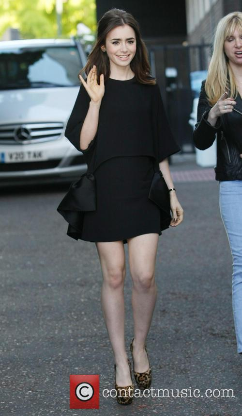 Lily Collins Leaving the ITV Studios