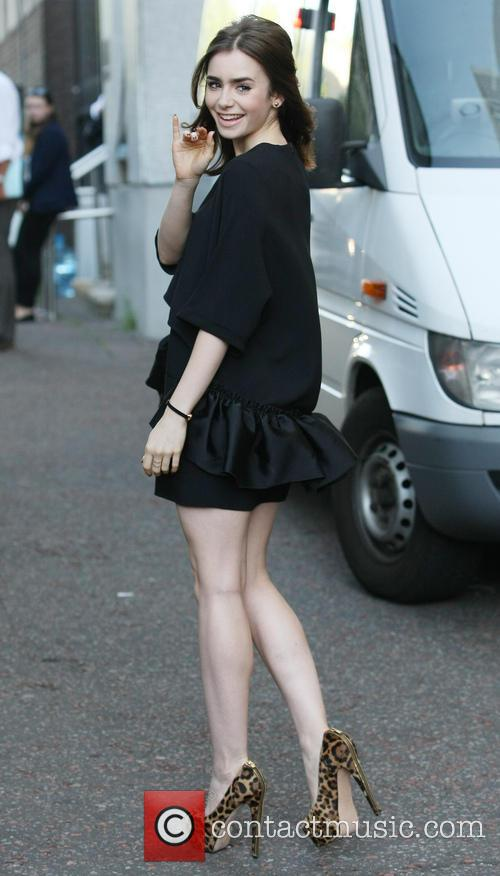 lily collins lily collins leaving the itv 3823366