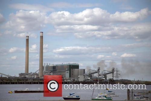 Smoke at Tilbury Power Station