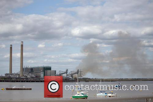 Smoke at Tilbury Power Station