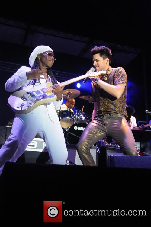 Nile Rodgers and Adam Lambert 6