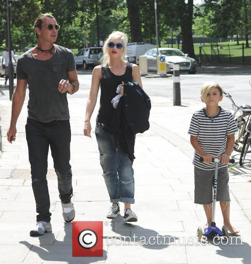 Gavin Rossdale, Gwen Stefani and Kingston Rossdale 3