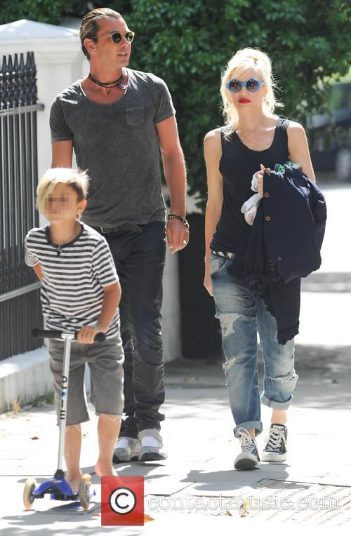 Gavin Rossdale, Gwen Stefani and Kingston Rossdale 4