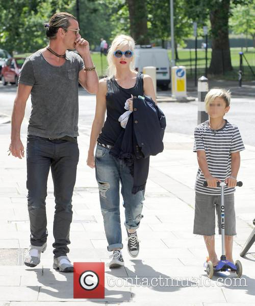 Gavin Rossdale, Gwen Stefani and Kingston Rossdale 1