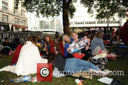 One Direction fans camp in Leicester Square