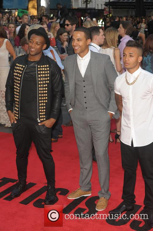 Aston Merrygold, Marvin Humes and Ortise Williams 5