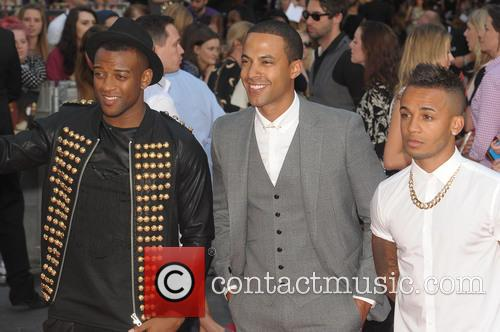 Aston Merrygold, Marvin Humes and Ortise Williams 6