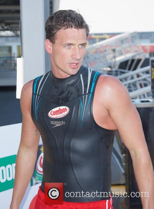 Ryan Lochte delivering Combos Pizza