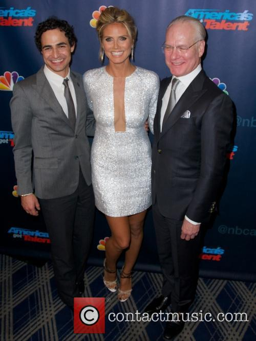 Zac Posen, Heidi Klum and Tim Gunn 3