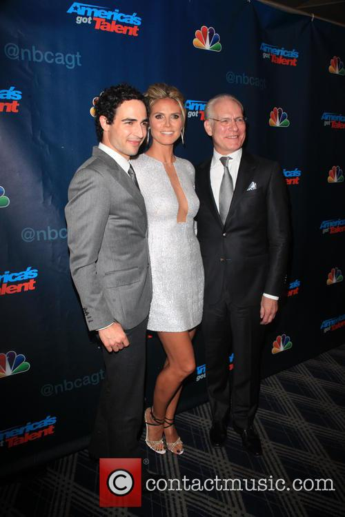 Zac Posen, Heidi Klum and Tim Gunn 8