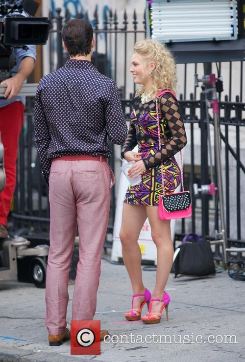 AnnaSophia Robb filming 'The Carrie Diaries'