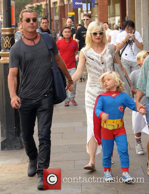 Gwen Stefani, Gavin Rossdale, Kingston Rossdale and Zuma Rossdale 4