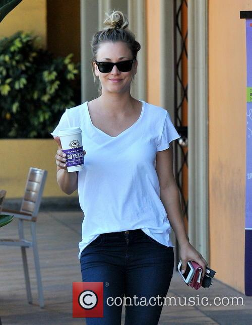 Kaley Cuoco goes for a coffee run