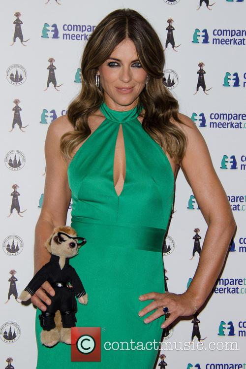 elizabeth hurley compare the meerkat launch 3827634