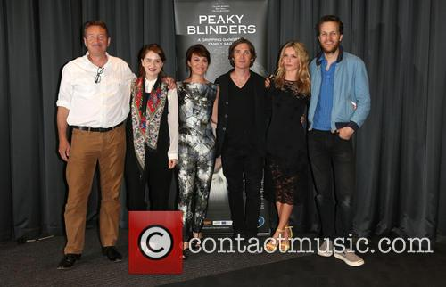Steven Knight, Sophie Rundle, Helen Mccrory, Cillian Murphy, Annabelle Wallis and Otto Bathurst 5