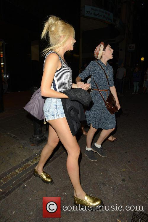 Pixie Lott leaving Charing Cross Theatre