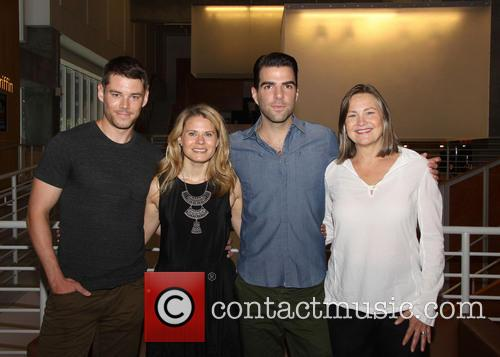 Brian J. Smith, Celia Keenan-bolger, Zachary Quinto and Cherry Jones 7