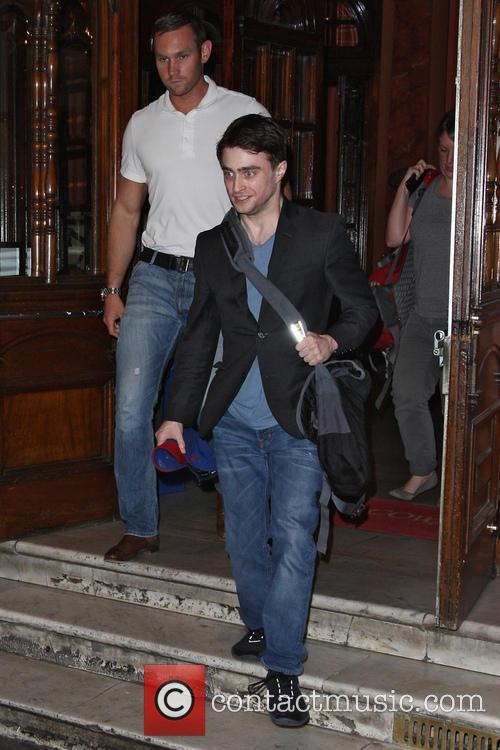 Daniel Radcliffe Leaving The Noel Coward Theatre