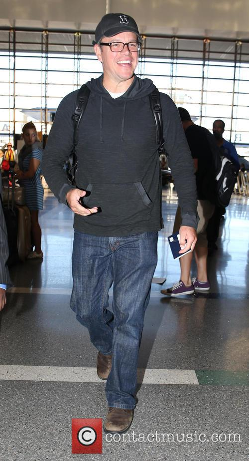 Matt Damon, LAX airport