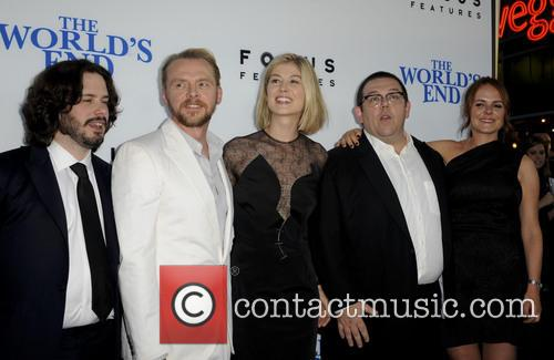 Edgar Wright, Simon Pegg, Rosamond Pike, Nick Frost and Nira Park 2