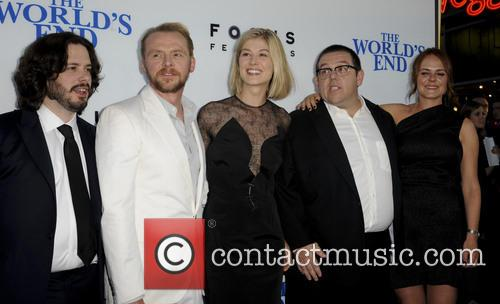 Edgar Wright, Simon Pegg, Rosamond Pike, Nick Frost and Nira Park 3