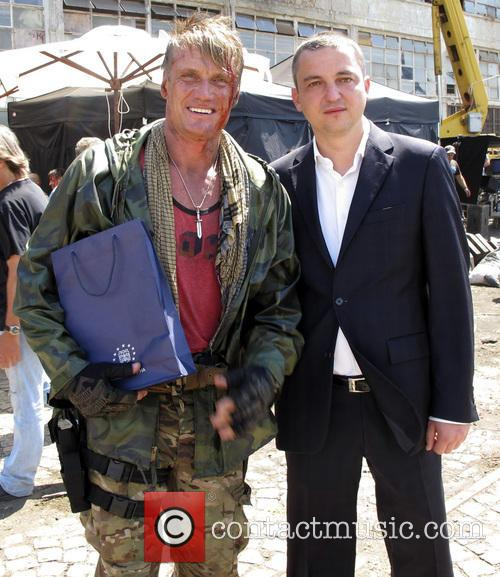 On set of the film 'Expendables 3'