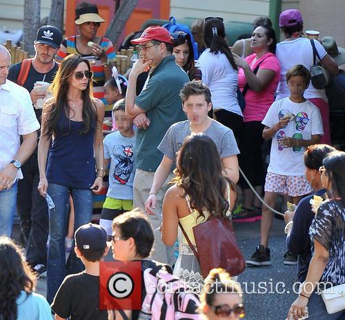 Victoria Beckham, David Beckham, Romeo Beckham, Cruz Beckham, Brooklyn Beckham, Disneyland