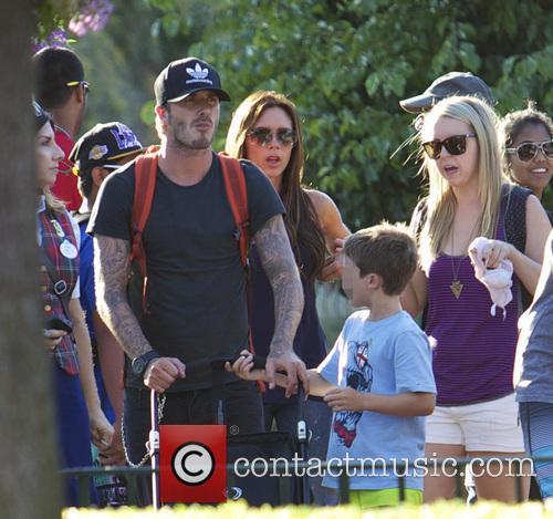 David Beckham, Victoria Beckham and Cruz Beckham 1
