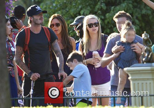 David Beckham, Victoria Beckham, Cruz Beckham, Harper Beckham, Brooklyn Beckham, Disneyland