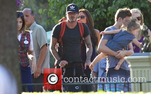 David Beckham, Victoria Beckham, Harper Beckham and Brooklyn Beckham 1