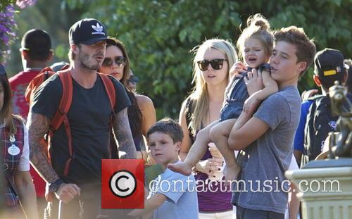 David Beckham, Victoria Beckham, Harper Beckham, Brooklyn Beckham and Cruz Beckham 2