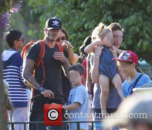 David Beckham, Victoria Beckham, Harper Beckham, Cruz Beckham and Brooklyn Beckham 2