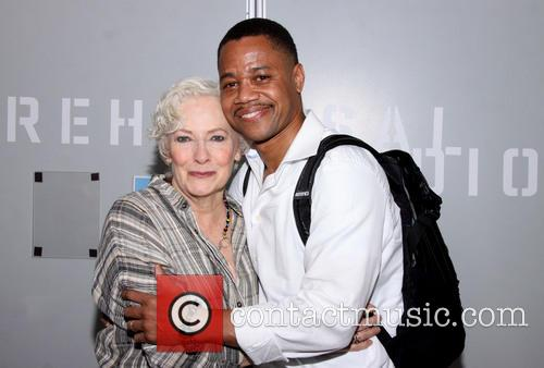 Cuba Gooding, Jr. backstage at The Old Friends
