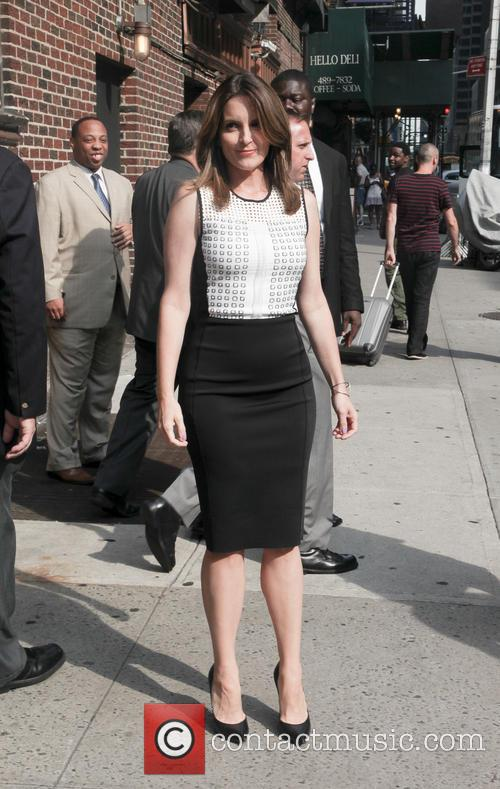 tina fey celebrities at the late show 3827745