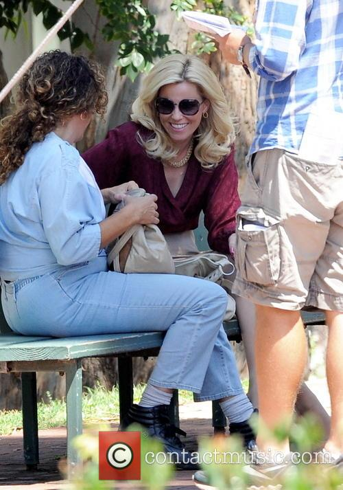 Elizabeth Banks filming the biopic 'Love and Mercy'