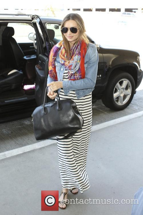 Miranda Kerr arrives at LAX airport