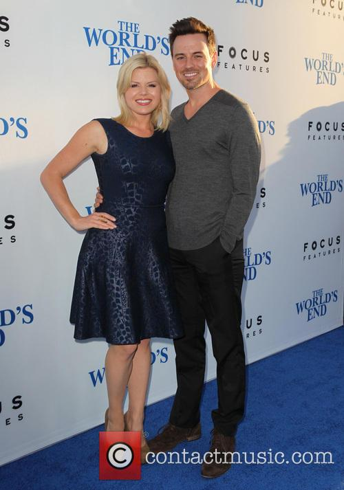 Megan Hilty Brian Gallagher, The World's End Premiere