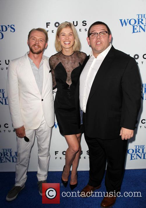 Simon Pegg, Rosamund Pike and Nick Frost 6