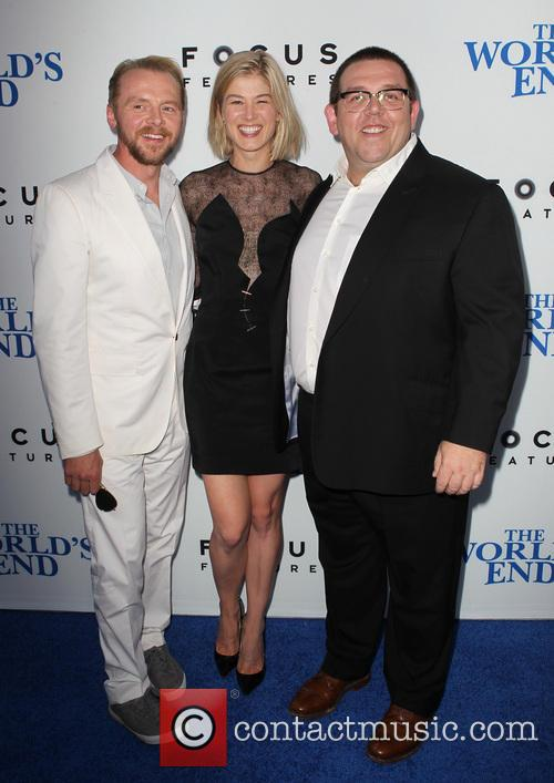 Simon Pegg, Rosamund Pike and Nick Frost 8